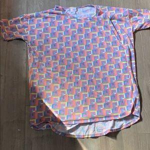 Lularoe large Irma purple print shirt